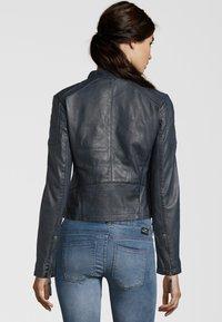 7eleven - SYDNEY - Leather jacket - navy - 2