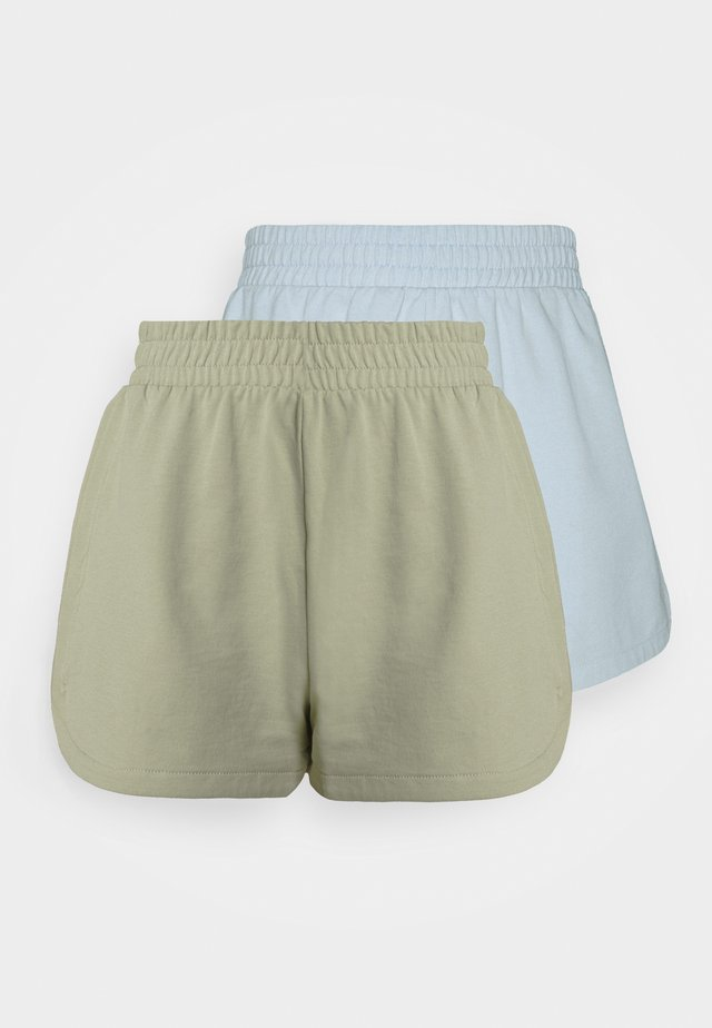 ZOE 2 PACK - Shorts - blue light/green