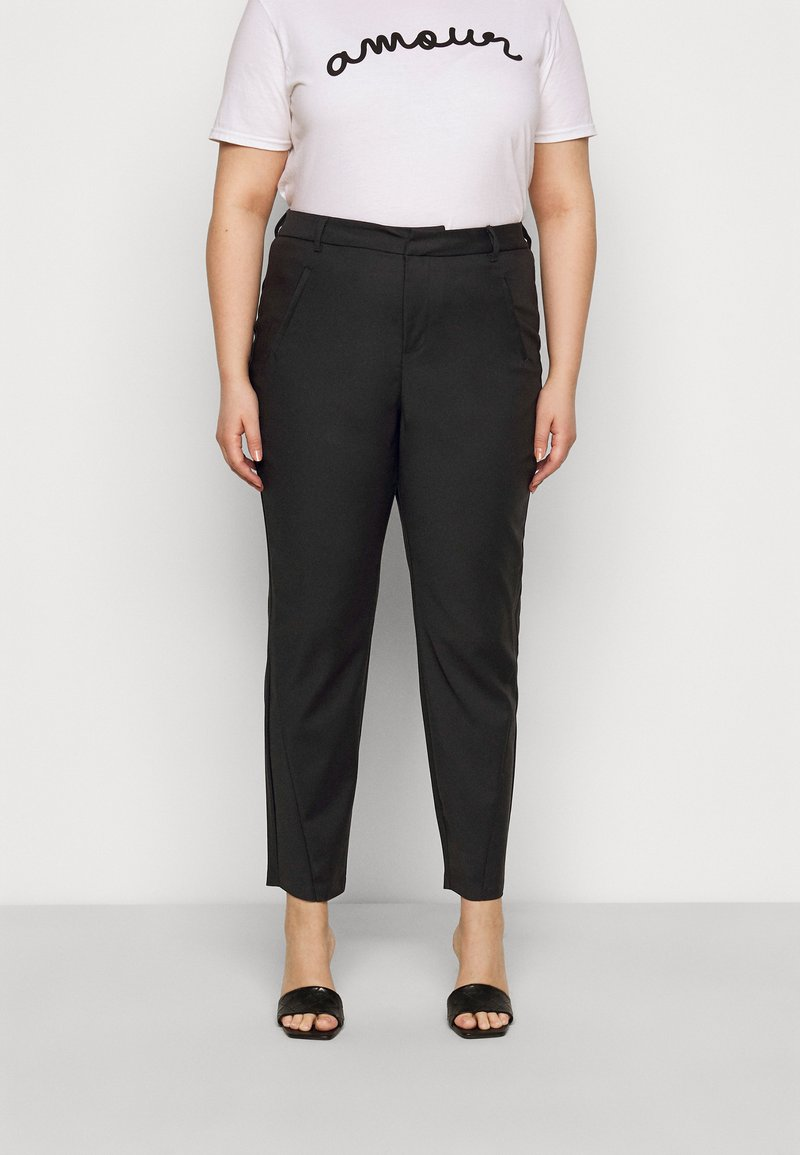 Vero Moda Curve - VMVICTORIA ANTIFIT ANKLE PANTS - Trousers - black