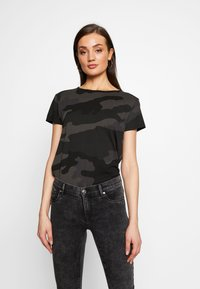 G-Star - ALLOVER TOP - T-shirts med print - raven - 0