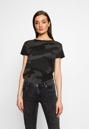 ALLOVER TOP - T-shirts med print - raven