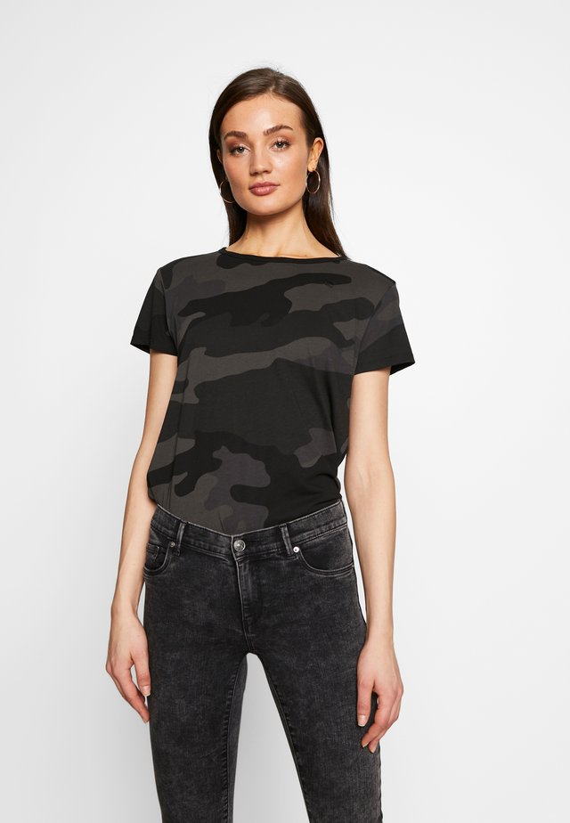 ALLOVER TOP - Camiseta estampada - raven