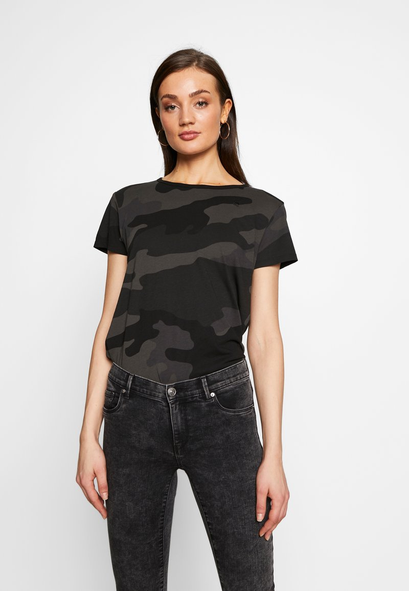 G-Star - ALLOVER TOP - T-shirts med print - raven