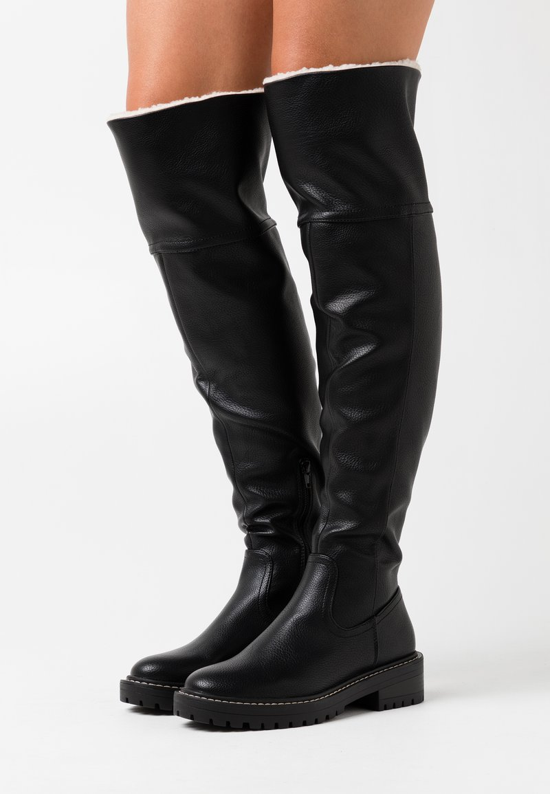 ONLY SHOES - ONLBOLD TALL BOOT - Kozačky nad kolena - black