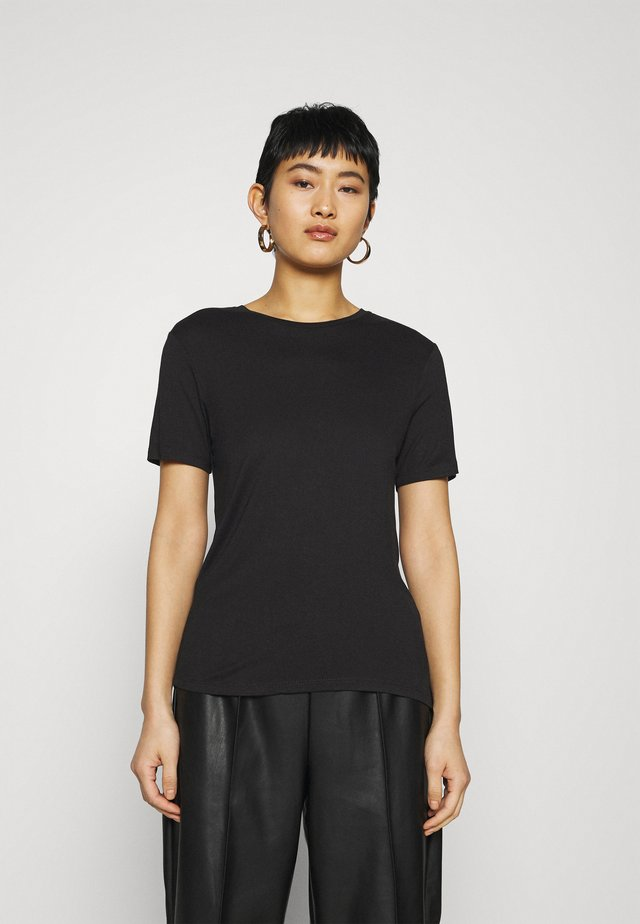 SILK MIX T-SHIRT  - T-paita - black