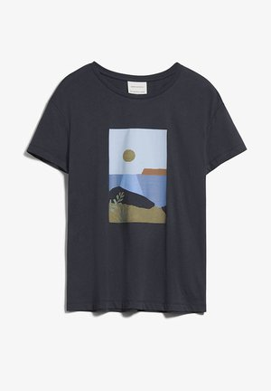 Print T-shirt - anthra