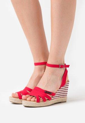 MONTY - High heeled sandals - rouge