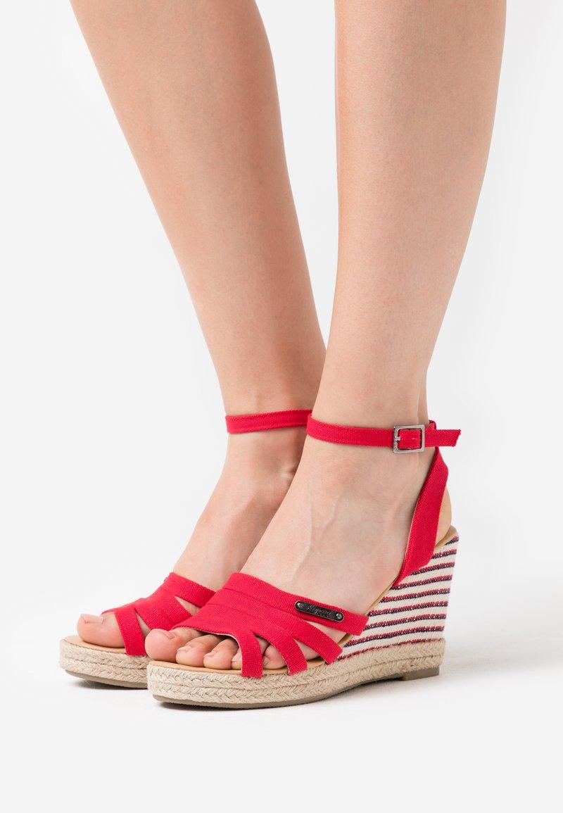 Kaporal - MONTY - High heeled sandals - rouge