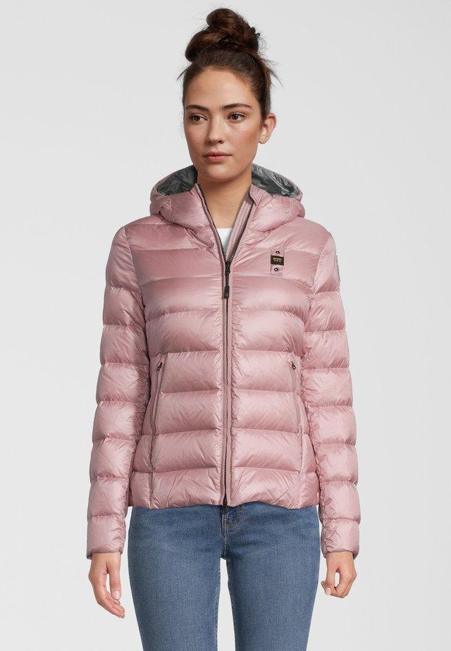MIT KAPUZE - Down jacket - puder rose
