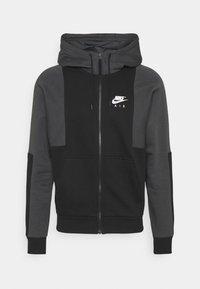 AIR HOODIE - Zip-up sweatshirt - black/anthracite