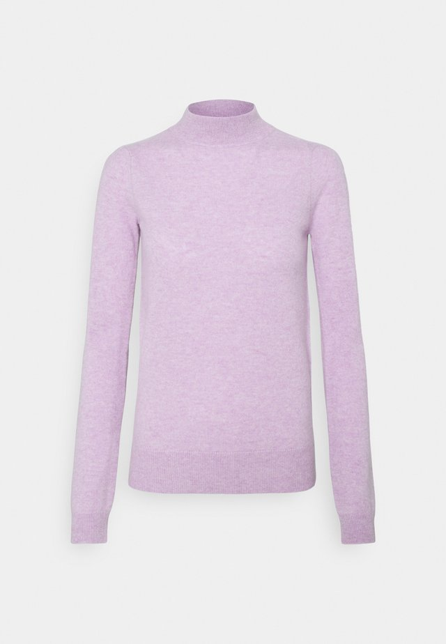 MOCKNECK PUFF SLEEVE - Stickad tröja - lavender