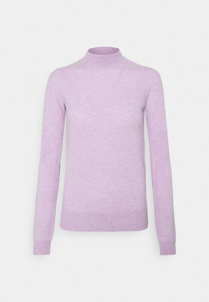 pure cashmere - MOCKNECK PUFF SLEEVE - Trui - lavender
