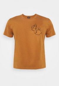 Even&Odd Curvy - Print T-shirt - brown - 4
