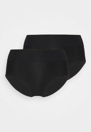 HIGH WAIST BRIEF 2 PACK - Trusser - black