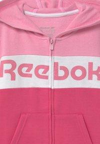 Reebok - FULL ZIP COLOR BLOCK HOODIE - Mikina na zip - shock pink - 2