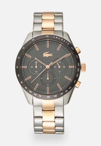 BOSTON - Chronograph watch - silver-coloured/grey