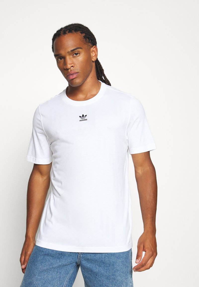 adidas Originals - MONO TEE  - Print T-shirt - white