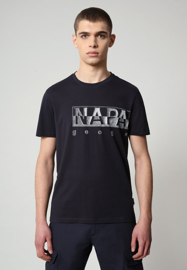 SALLAR LOGO - T-shirt con stampa - blu marine