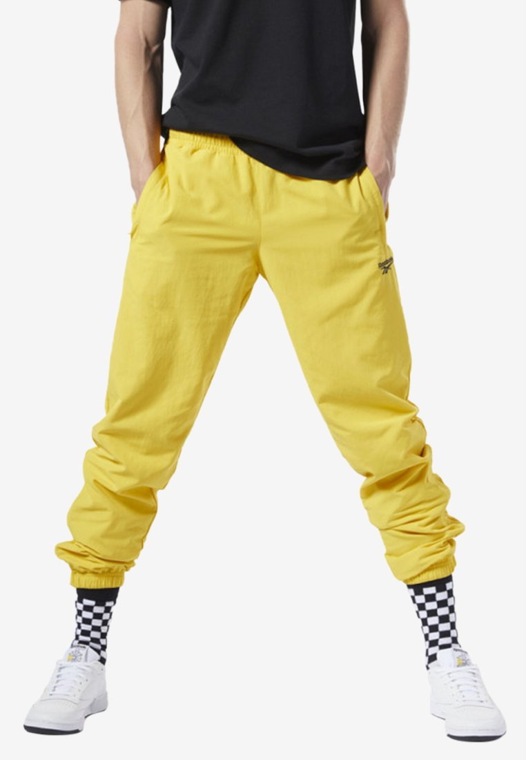 Reebok Classic - CLASSICS VECTOR TRACK PANTS - Tracksuit bottoms - toxic yellow