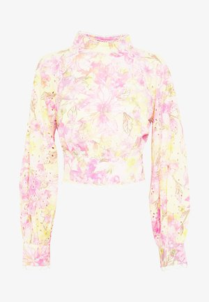 OPEN BACK PRINTED BLOUSE - Blouse - multi-coloured