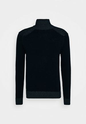 TURTLE NECK JUMPER - Jersey de punto - navy