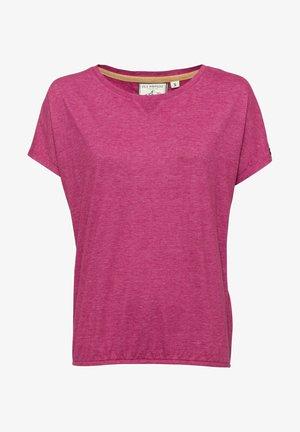Basic T-shirt - lilameliert