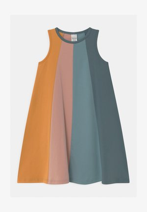 ALFA RAINBOW COLOUR BLOCK - Jersey dress - cloud
