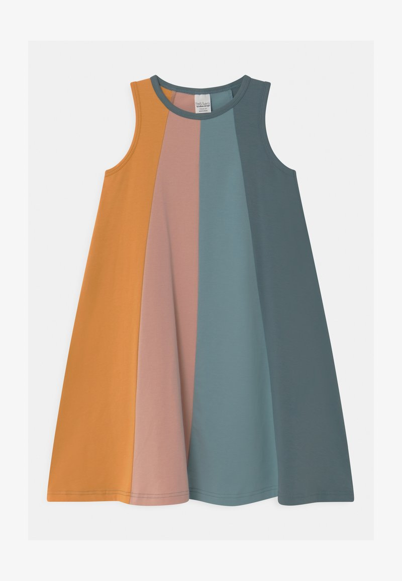 Fred's World by GREEN COTTON - ALFA RAINBOW COLOUR BLOCK - Jersey dress - cloud