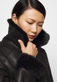 STUDIO ID - BIKER JACKET - Leather jacket - black/dark grey - 3