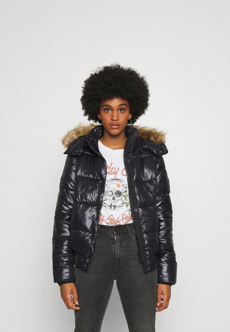 Superdry - HIGH SHINE TOYA  - Winter jacket - black