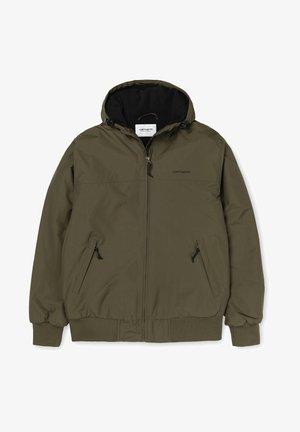 Winter jacket - cypress / black