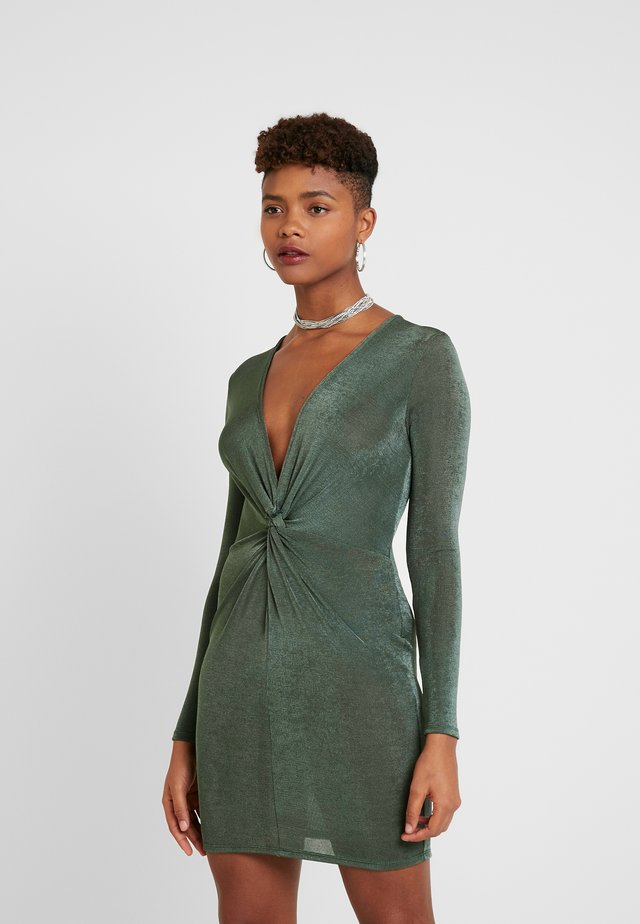 AMBI DRESS - Shift dress - dark green