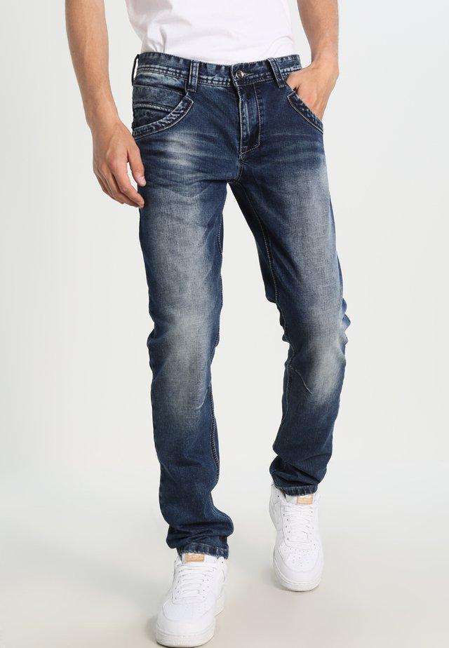 BLACK STAR - Jean slim - stone used