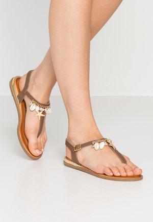 MINDEN - T-bar sandals - brown