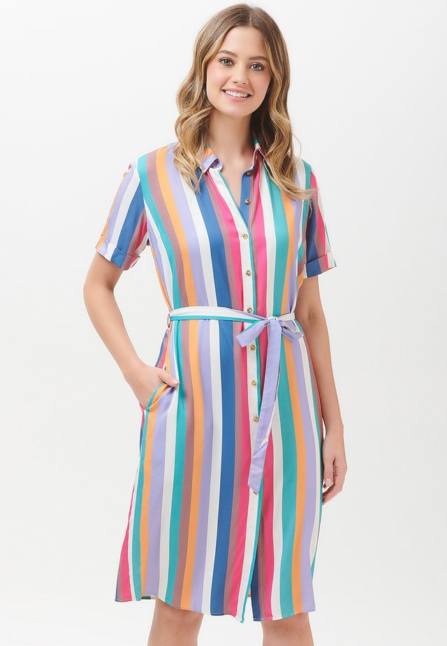 JUSTINE CRUISE STRIPE - Shirt dress - multi-coloured