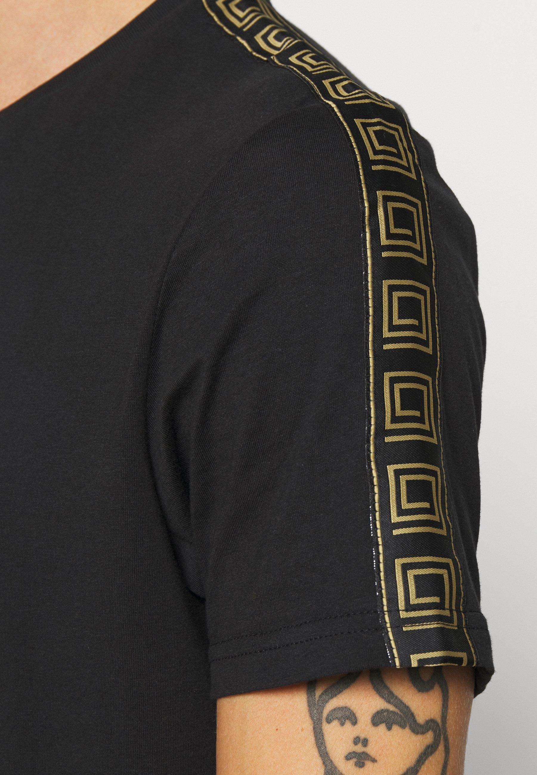 Brave Soul Harland - T-shirts Med Print Black/svart