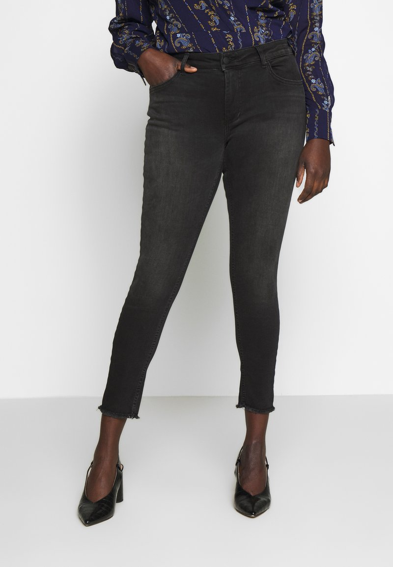 ONLY Carmakoma - CARWILLY  - Jeans Skinny Fit - black