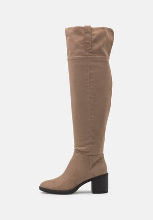 Over-the-knee boots - creme/beige
