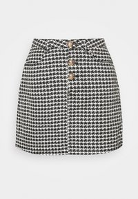Missguided - HOUNDSTOOTH SKIRT - Mini skirt - black
