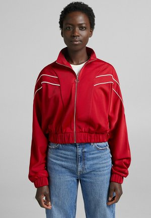 Jacke - Felpa con zip - red