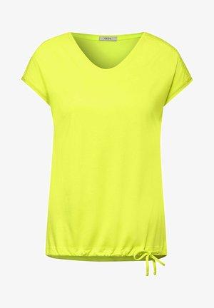 MIT SMOK - Print T-shirt - gelb