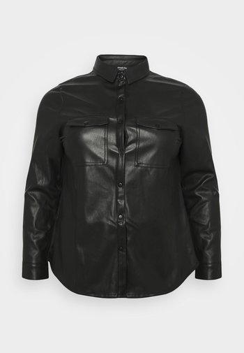 NEPAL - Button-down blouse - black