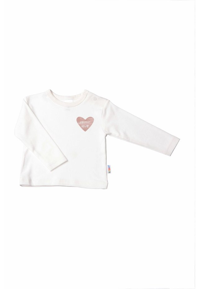"""COSMIC LOVE"" - Long sleeved top - ecru"