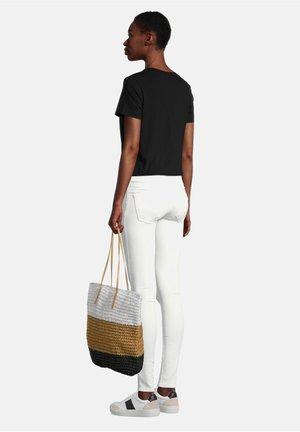 Shopping Bag - camel/black