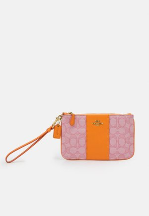 SIGNATURE JACQUARD SMALL WRISTLET - Clutch - taffy orange