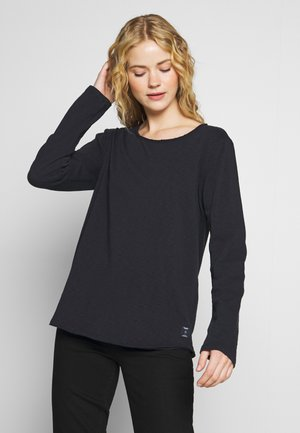 CREW NECK RAW CUT EDGES - Jumper - blue night sky
