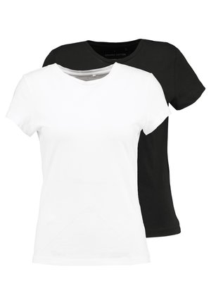 ONLPURE LIFE 2PACK - T-shirts - black/white
