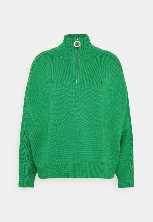 ZIP UP HIGH - Sweter - primary green