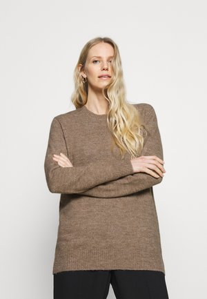 LONG LINE JUMPER - Svetr - mottled brown