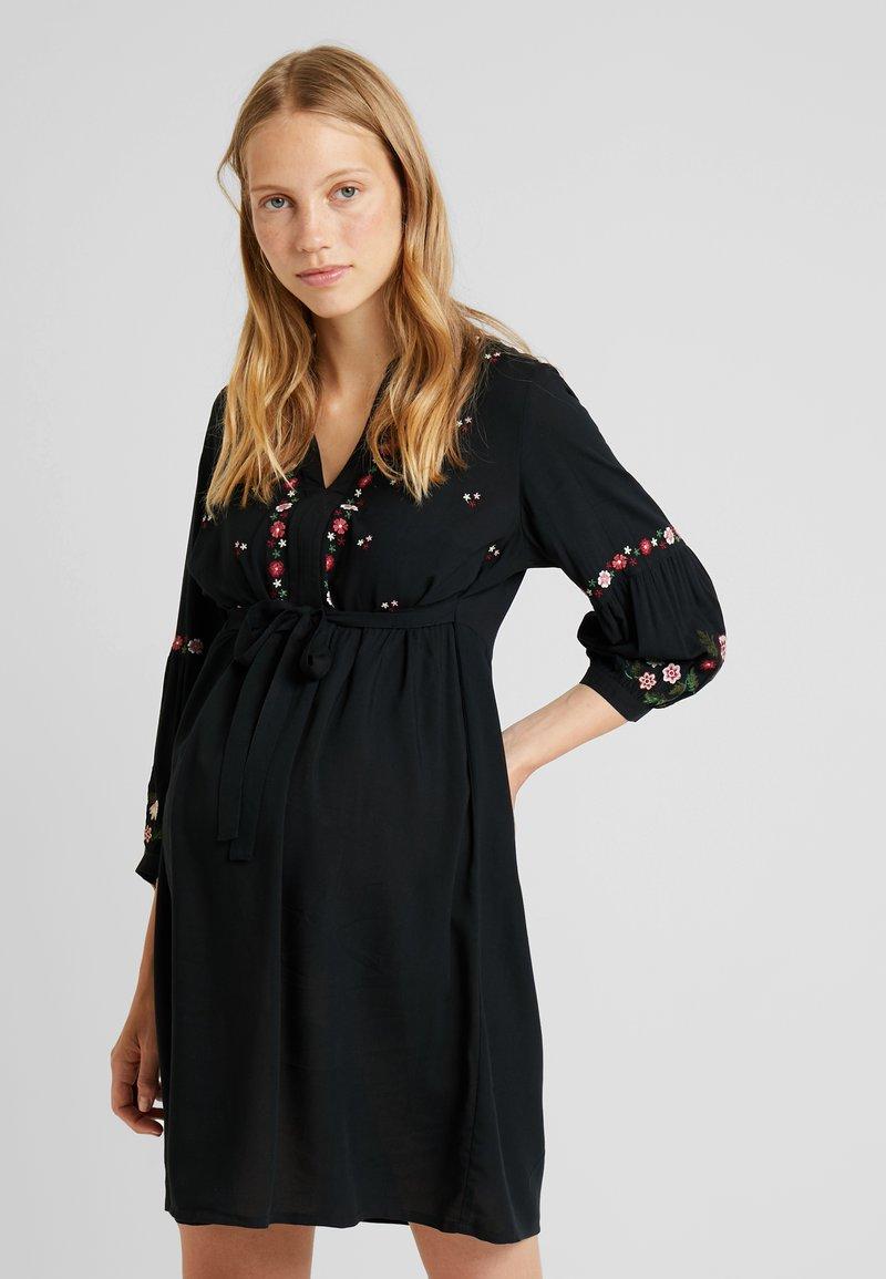JoJo Maman Bébé - EMBROIDERED DRESS - Denní šaty - black